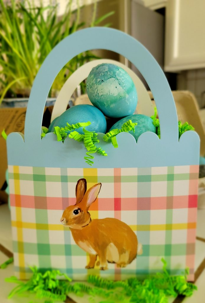 Easter basket, natural dyed eggs, red cabbage dyed eggs, robin egg blue egg dye, egg dye made from cabbage, simple natural egg dye, using food for egg dye