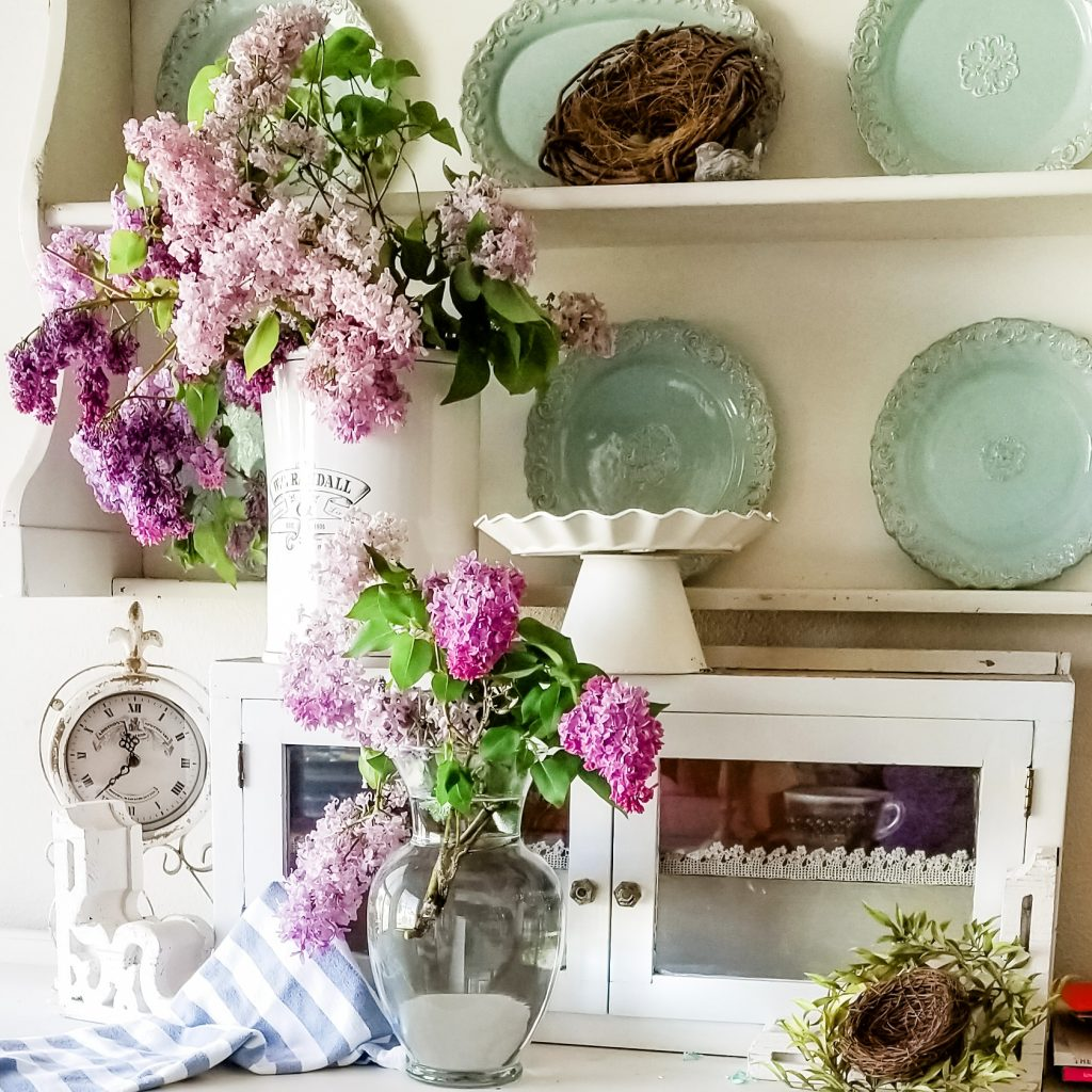 lilacs romantic homes shabby chic decorating vintage style displaying lilacs vintage vases