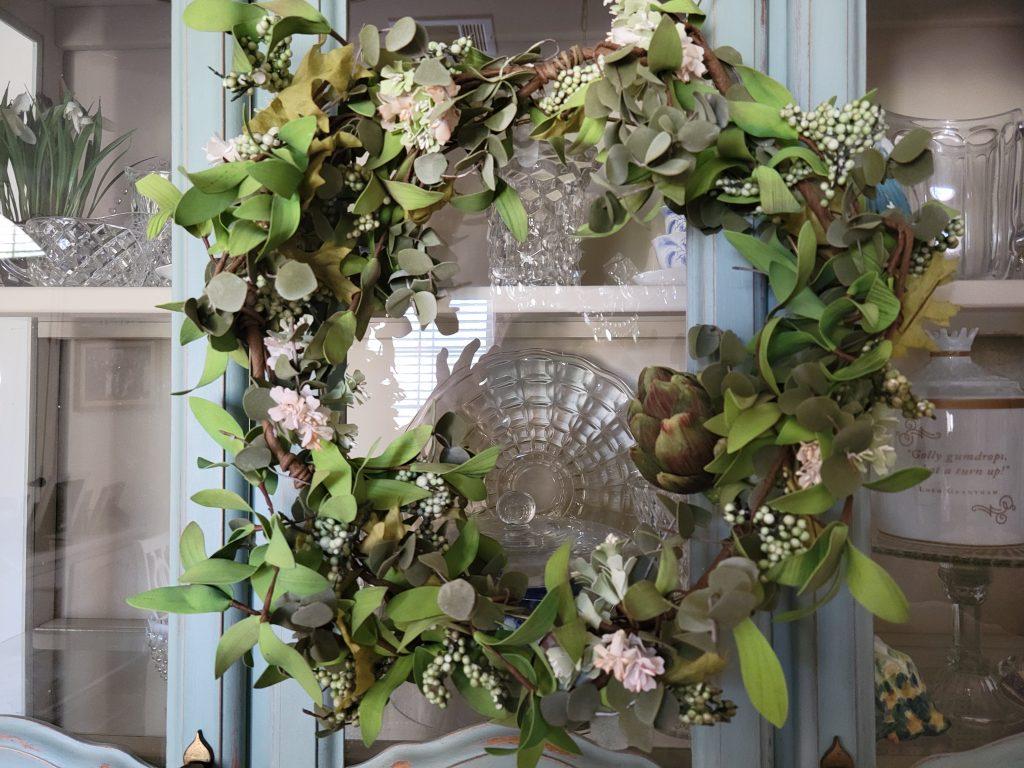 French wreath, cottage style wreath, easy DIY wreath, Easy home decor,