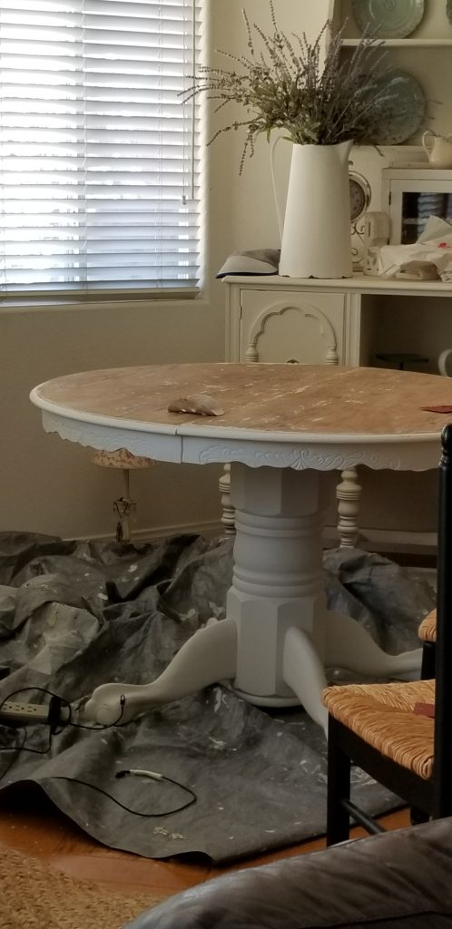 Stripping and painting a farmhouse table